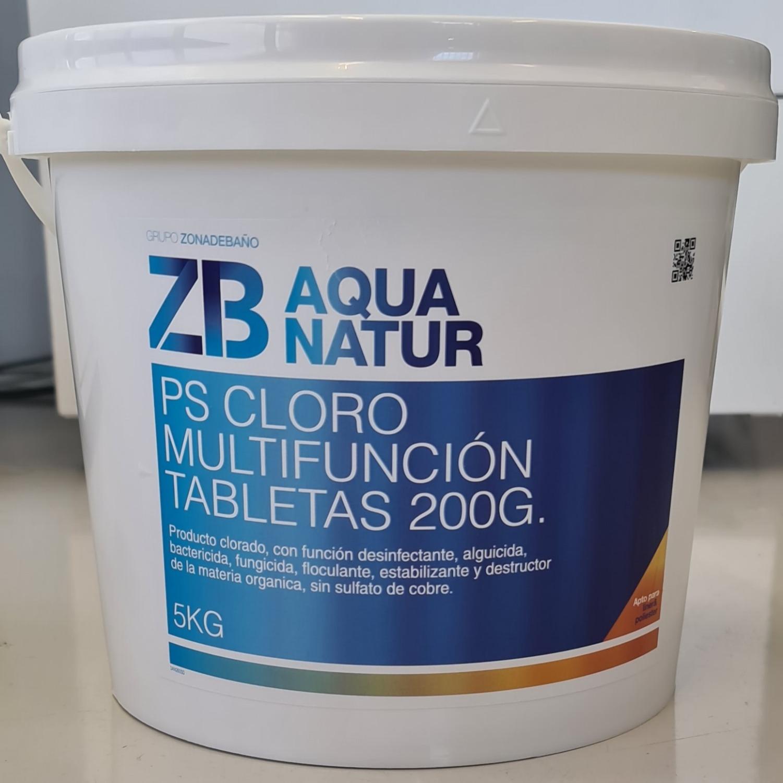 Cloro multifunción tabletas 200g
