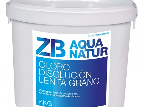 Granulated slow chlorine
