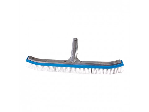 Aluminum curved brush with plastic bristles