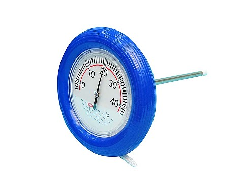 Cylindrical float thermometer
